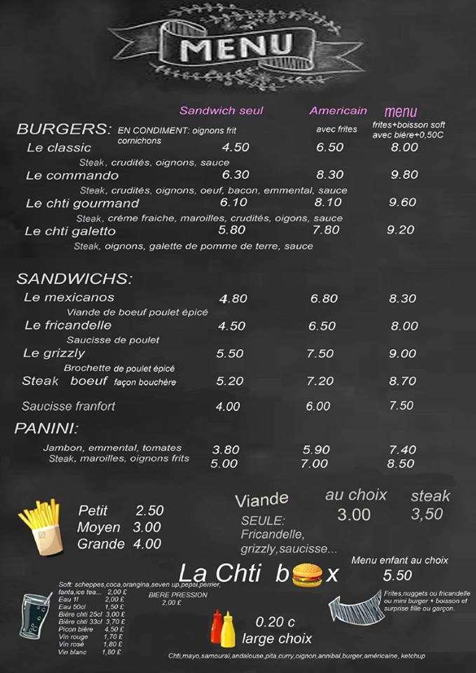 Le ch'ti menu