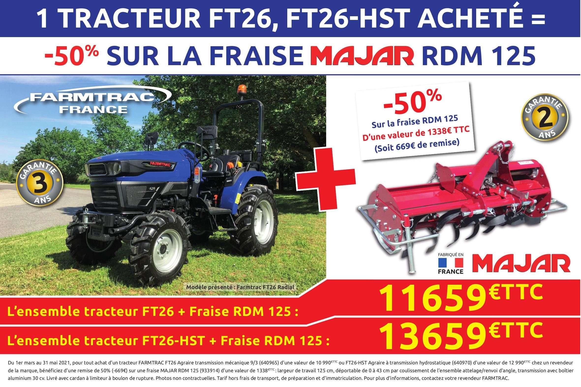 Tracteur Farmtrac