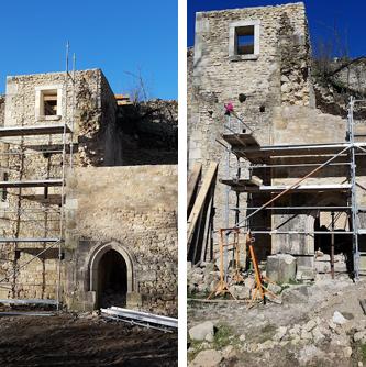 Rénovation d'un château du 13ème siècle