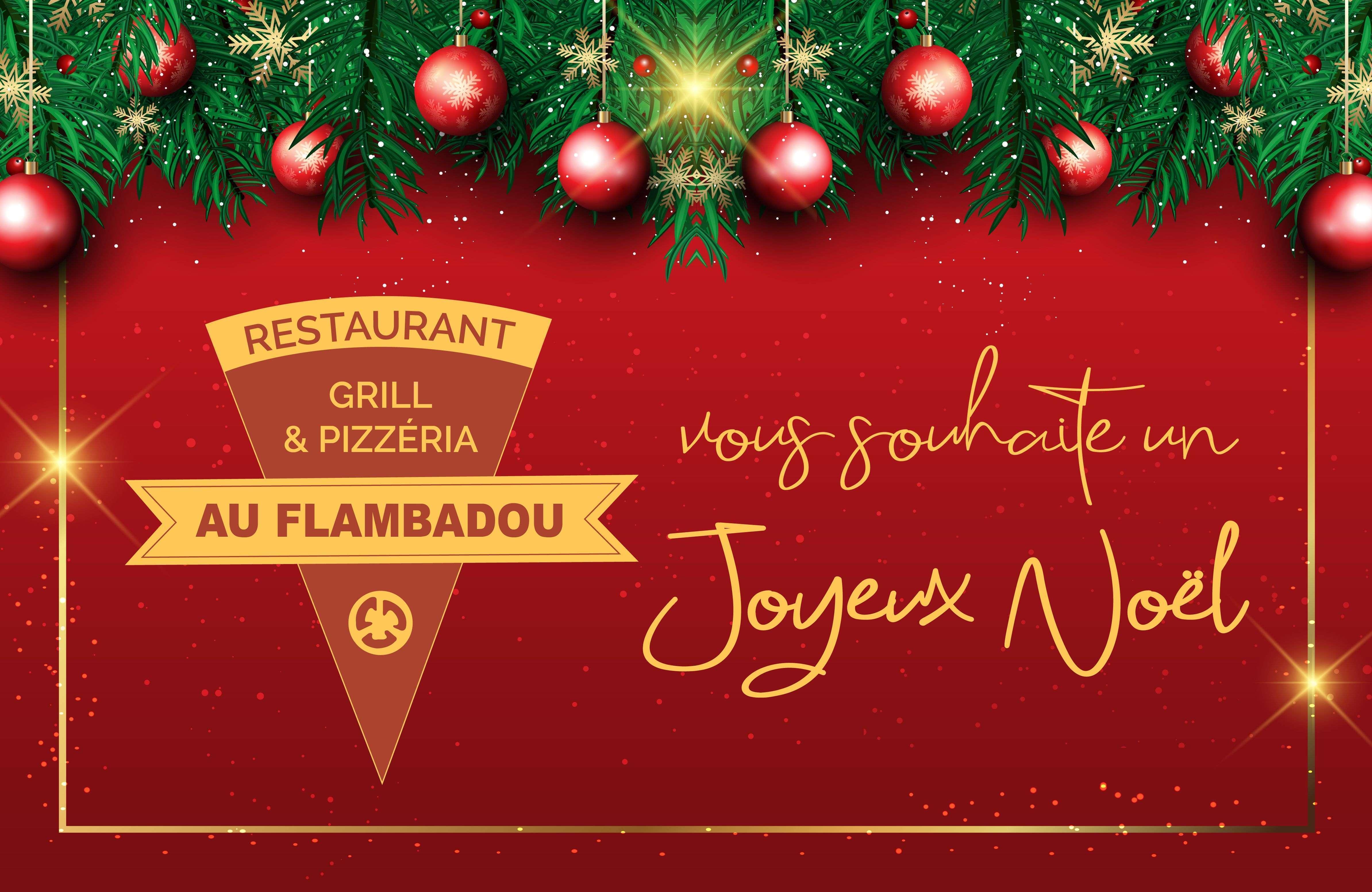Au Flambadou vous souhaite un joyeux Noël !
