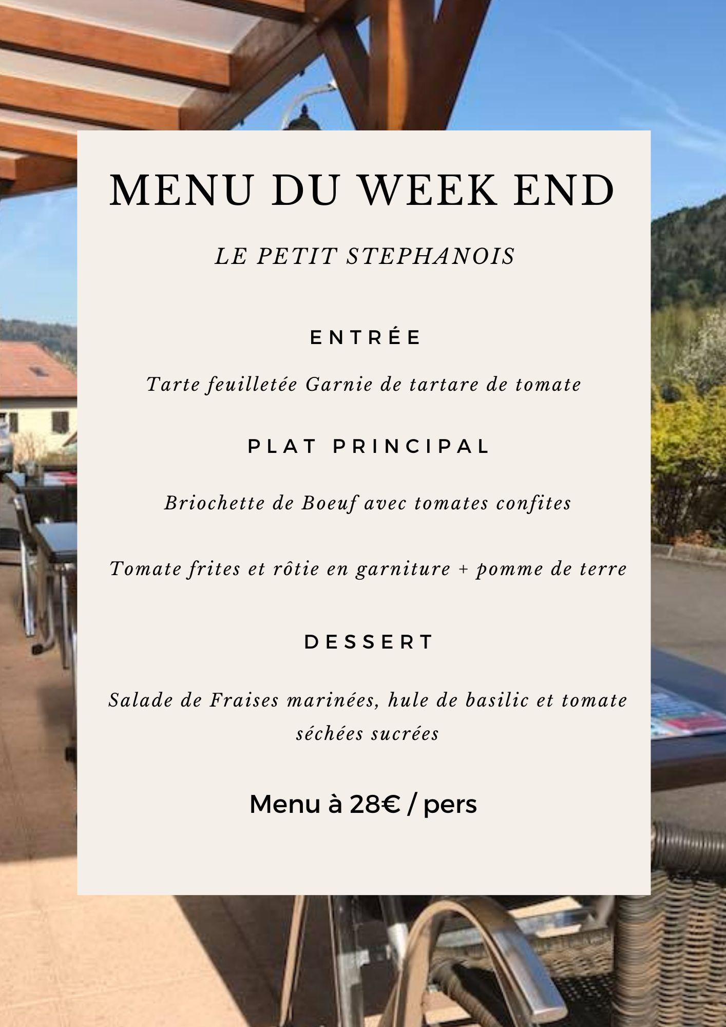 Menu du Weekend !!