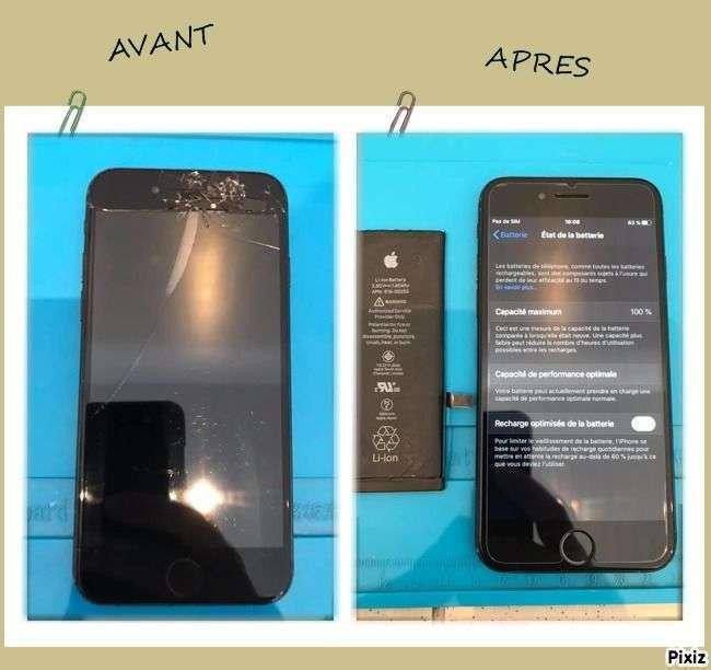 Réparation écran et batterie IPhone 7 !